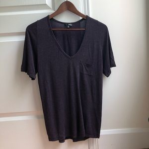 Aritzia Wilfred eggplant relaxed T-shirt